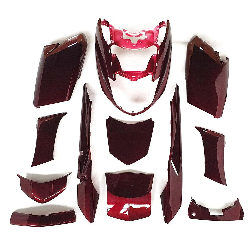 ヤマハ マグザム(SG17J/SG21J) 外装カウル 12点セット ワインレッド色