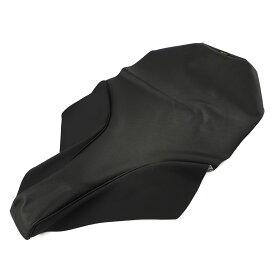 ヤマハTW200/225張替用2トーン表皮素材シートカバー(黒エンボス)