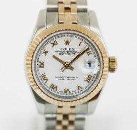 【質SHOPアデ川】ROLEX ロレックス 179171 デイトジャスト レディース 腕時計 M番 ホワイト文字盤【中古】【USED】【送料無料】【質屋】【時計】【K18PG】【白文字盤】【コンビ】【アデガワ】【北越谷】