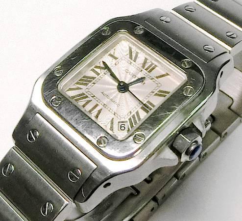 【菊地質店】【中古】カルティエ CARTIER サントス ガルベ レディース 腕時計 オートマチック【送料無料】【質屋出店】<12-3>