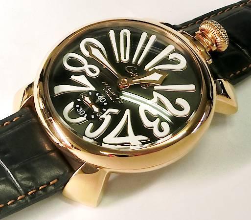 【菊地質店】【中古】ガガミラノ GaGa MILANO マヌアーレ 5011.07S メンズ 手巻き 腕時計【送料無料】【質屋出店】<12-5>