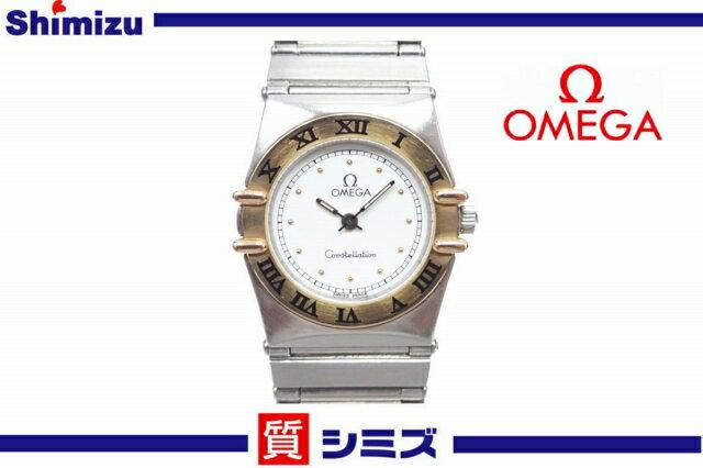 【OMEGA】良品 オメガ コンステレーション ミニ レディース腕時計 クオーツ SS/K18【中古】