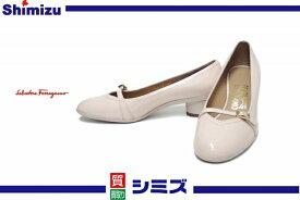 【Ferragamo】 フェラガモ エナメルレザー パンプス/靴 5 1/2 C ◆未使用 【中古】