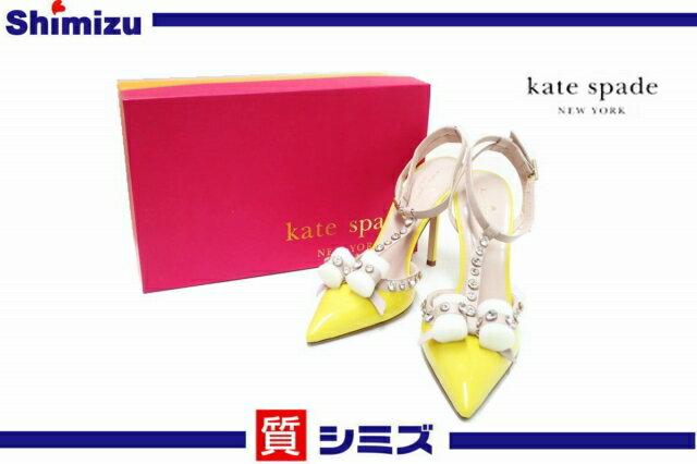 【kate spade】未使用品 ケイトスペード ハイヒール パンプス サンダル 日本サイズ:約25cm 箱付 【中古】