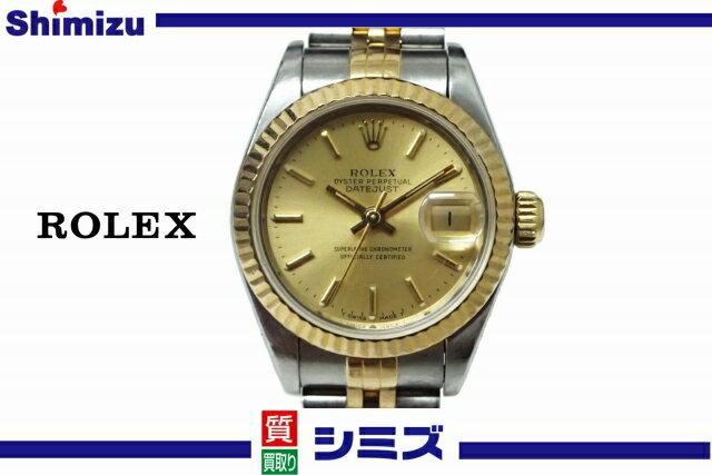 【ROLEX】 ロレックス SS×K18YGコンビ デイトジャスト [Ref.69173] X番 レディース腕時計 ◆美品◆ 【中古】