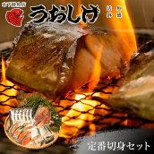 うおしげ木下鮮魚店定番お任せセット!塩鮭/子持ちししゃも/塩サバ切り身冷凍焼くだけ福岡博多市場魚さかな天然紅鮭切り身