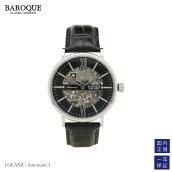 BAROQUEバロックGLANZ自動巻きイタリアンレザースケルトンウォッチ/腕時計クラシック機械式