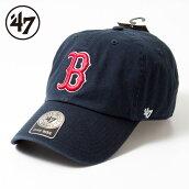 47BrandBOSTONREDSOXHOME'47CLEANUPフォーティーセブンブランドボストンレッドソックスクリーンアップロゴ刺繍ネイビーメジャーリーグキャップ