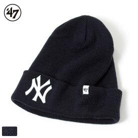【開始6H限定 20%OFFクーポン配布中!】【スーパーSALE 10%OFF】47 Brand フォーティーセブンブランド ヤンキース ニットキャップ ニット帽 ビーニー / Yankees RAISED CUFF KNIT NAVY '47 BRKN17ACENY MLB