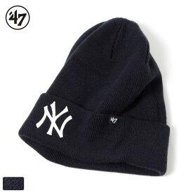 【開始6H限定 20%OFFクーポン配布中!】47 Brand フォーティーセブンブランド ヤンキース ニットキャップ ニット帽 ビーニー / Yankees '47 GUNGO CUFF KNIT NAVY BFUNGO17ACENY MLB