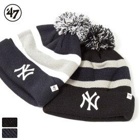【開始6H限定 20%OFFクーポン配布中!】47 Brand フォーティーセブンブランド ニューヨーク ヤンキース ニットキャップ ニット帽 ビーニー / NY Yankees '47 BREAKAWAY CUFF KNIT BRKAW17ACE MLB【ゆうパケット 送料無料】
