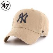 47BrandキャップフォーティーセブンブランドMLBNYニューヨークヤンキースクリーンアップキャップカーキ/Yankees'47CleanUpKhaki