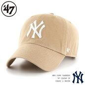 【1/23再入荷】47Brandキャップ47BrandCAP47ブランドMLBNYニューヨークヤンキースクリーンアップキャップカーキベージュ/Yankees'47CleanUpKhakixWhiteLogo