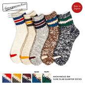 【6/24再入荷】ANONYMOUSISMアノニマスイズム3ラインスラブクウォータークルーソックス日本製靴下ANONYMOUSISM3LINESLABCREWSOCKS買い回り