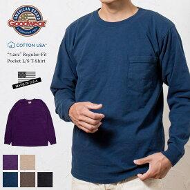【'19AW】GOODWEAR USA グッドウェア レギュラーフィット ポケット 長袖 Tシャツ ロンT / GOOD WEAR 7.2oz Crew-Neck L/S T-SHIRT 正規代理店商品 アメリカ製 MADE IN USA