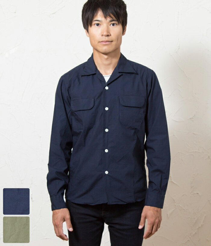 THREAD スレッド メンズ オープンカラー シャツジャケット 全2色 Open Collar L/S Shirt 【送料無料】