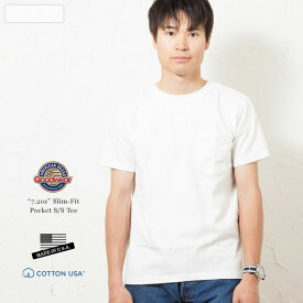 GOODWEAR グッドウェア スリムフィット 日本別注 ポケット Tシャツ 米国製/アメリカ製/ポケT SLIM-Fit