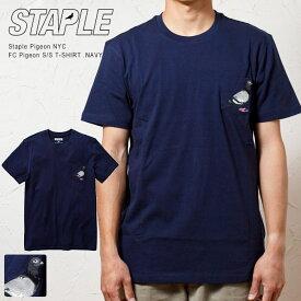 【STAPLE PIGEON NYC / ステイプル】 ピジョン 刺繍ポケット Tシャツ / FC STAPLE PIGEON POCKET TEE (NAVY -ネイビー 紺色)