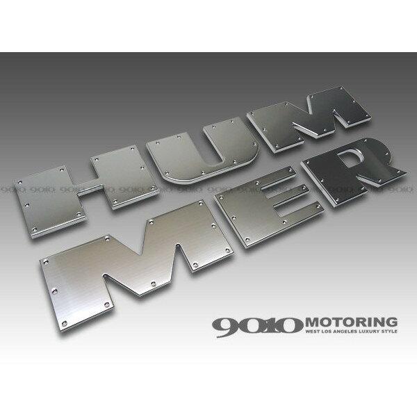 【CODE9】HUMMER/ハマー H2 ビレット リアバンパーレターロゴ ディンプルタイプ