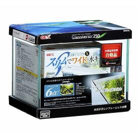 GEX グラステリア 250 6点セット 25cm小型ガラス水槽セット