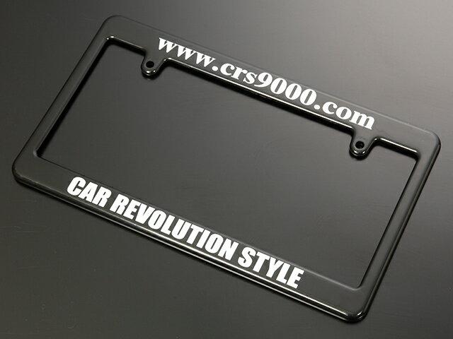 エセックス ナンバーフレーム■ブラック■フロント用CRS シーアールエスESSEX 200系ハイエース・レジアスエースNV350キャラバンナンバープレート枠