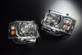 CRS 【4型フェイスチェンジ用】 4型LEDルックハロゲンヘッドライト■クロームシーアールエスESSEX エセックス200系1型2型3型用ハイエースレジアスエース