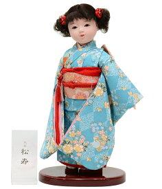 市松人形 八寸 特選友禅 水色桜 [高さ約40cm]