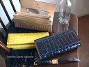 ノベルティ&レザークリームプレゼント 1metre carre アンメートルキャレ エナメル クロコ型押し レザー ギャルソン 長財布 EN30726 グ…