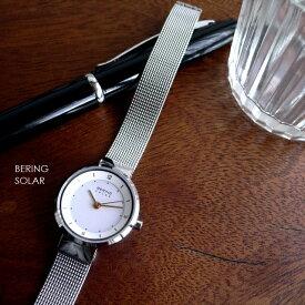 ノベルティプレゼント BERING ベーリング メタルバンド ソーラー 腕時計 Scandinavian Solar 14424-001 シルバー