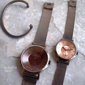 正規品 ノベルティプレゼント KLASSE14 クラスフォ−ティーン 腕時計 メタルメッシュバンド VOLARE OKTO VINTAGE GOLD 28mm 36mm WOK20VG002 ビンテージ ゴールド