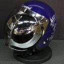 バブルミラーシールド付 山城 テッドマン ヘルメット TMH-14 TEDMAN'S FUNKY M.C. ネイビー L 送料無料