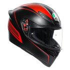 AGV K1 フルフェイスヘルメット WARMUP MATT BLACK/RED あす楽対応 送料無料