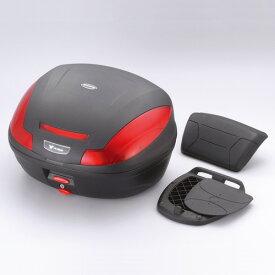 (ヤマハ純正) ワイズギア GIVE リアボックス E47 バックレスト付 GIVIエンブレム付 47L 未塗装ブラック YAMAHA Q5KYSK046001 あす楽対応 送料無料