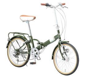 【送料無料・メーカー直送・代引不可】折り畳み自転車 20インチ6段変速 センサーライト付 折りたたみ自転車 MHD-206R 2017 (OTOMO Raychell MHD-206R)