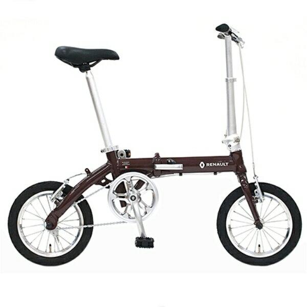 折り畳み自転車 RENAULT RALIGHT8 14インチ AL折りたたみバイク ブラウン ルノー