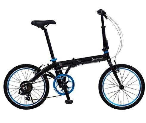 折り畳み自転車 RENAULT LIGHT10 20インチ AL折りたたみバイク ブラック ルノー(AL-FDB207)