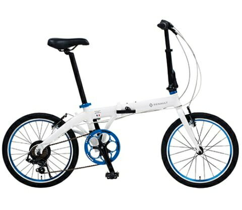 折り畳み自転車 RENAULT LIGHT10 20インチ AL折りたたみバイク ホワイト ルノー(AL-FDB207)