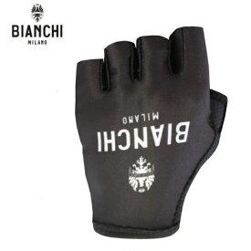 Bianchi MILANO ビアンキミラノ SSグローブ DIVOR / ブラック 4000 / サイクルウエア グローブ