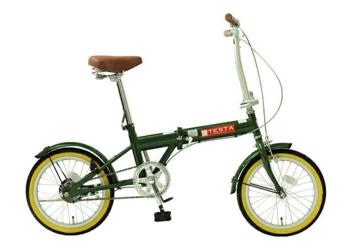 TOPONE (トップワン) 折り畳み自転車 16インチ (モスグリーン)(TOPONE FL160-48)【送料無料・メーカー直送・代引不可】 02P03Dec16