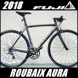 フラットバーロードバイクフジルーベオーラ(マットブラック)2018FUJIROUBAIXAURAクロスバイク
