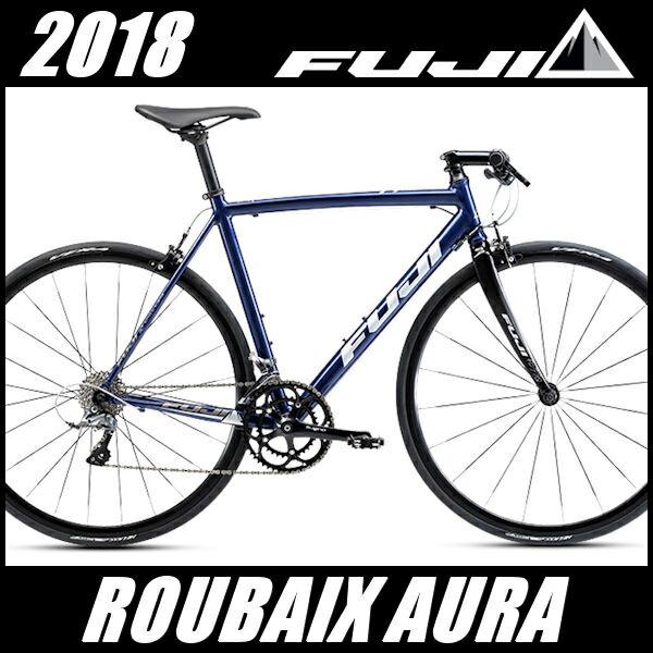 フラットバーロードバイク フジ ルーベ オーラ (ミッドナイトブルー) 2018 FUJI ROUBAIX AURA クロスバイク