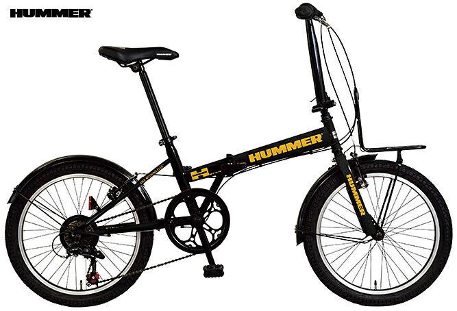 折り畳み自転車 HUMMER FDB207 TANK (ブラック) ハマー FDB 207 タンク FOLDING BIKE フォールディングバイク