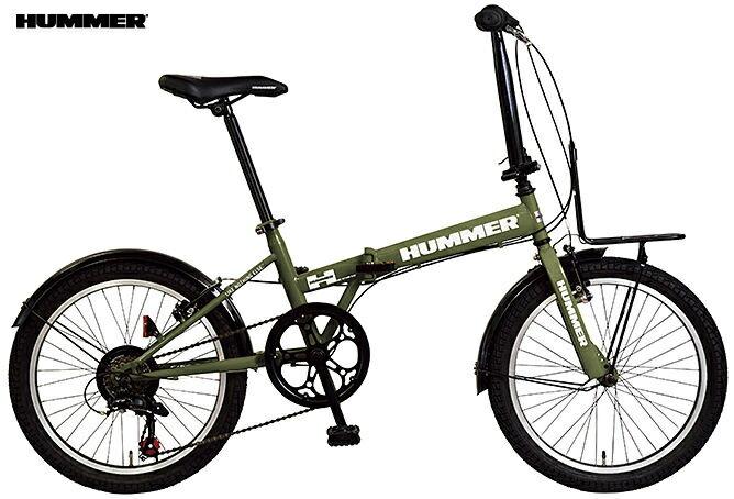 折り畳み自転車 HUMMER FDB207 TANK (マットグリーン) ハマー FDB 207 タンク FOLDING BIKE フォールディングバイク