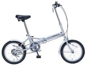 折り畳み自転車 16インチ折りたたみ自転車 マイパラスM-101 (シルバー) (MYPALLAS M-101) 折畳み自転車