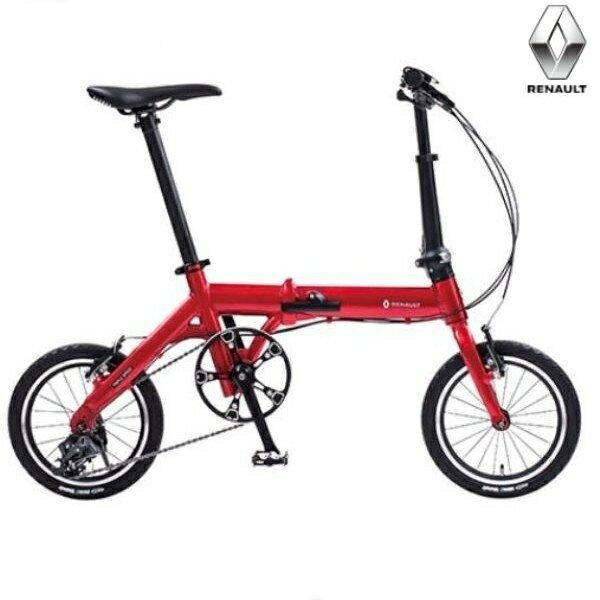 折り畳み自転車 RENAULT ULTRA LIGHT7 TRIPLE 14インチ AL折りたたみバイク レッド ルノー(AL-FDB143)