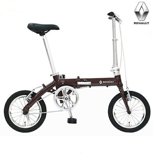 折り畳み自転車 RENAULT LIGHT8 14インチ AL折りたたみバイク ブラウン ルノー