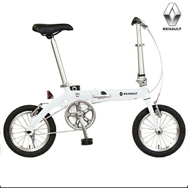 折り畳み自転車 RENAULT ULTRALIGHT8 14インチ AL折りたたみバイク ホワイト ルノー