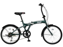 折りたたみ自転車コールマンFDB206ハンター(グリーン)3300ColemanFDB206HUNTERフォールディングバイクサギサカSAGISAKA
