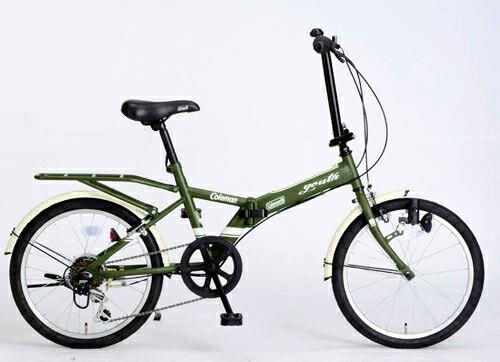 折りたたみ自転車 コールマン FDB206 ユース (マットグリーン) 3292 Coleman FDB 206 YOUTH フォールディングバイク サギサカ SAGISAKA