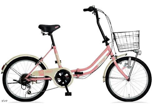 折りたたみ自転車 コールマン FDB206 カーゴ (ピンク) 3288 Coleman FDB 206 CARGO フォールディングバイク サギサカ SAGISAKA